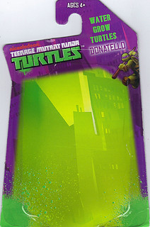 WICKED COOL TOYS :: Nickelodeon TEENAGE MUTANT NINJA TURTLES; 'WATER GROW TURTLES' - DONATELLO iii // ..card backer  (( 2013 ))