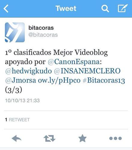 Premios Bitácoras Twitter