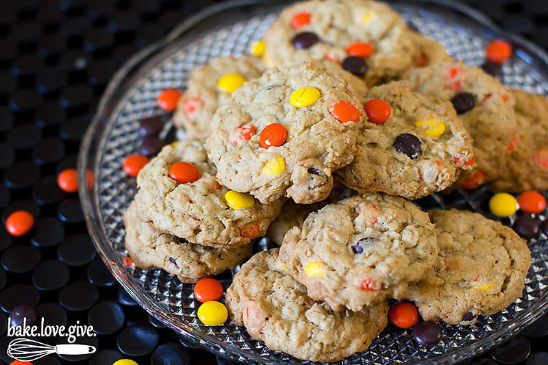Oatmeal Reese's Pieces Cookies