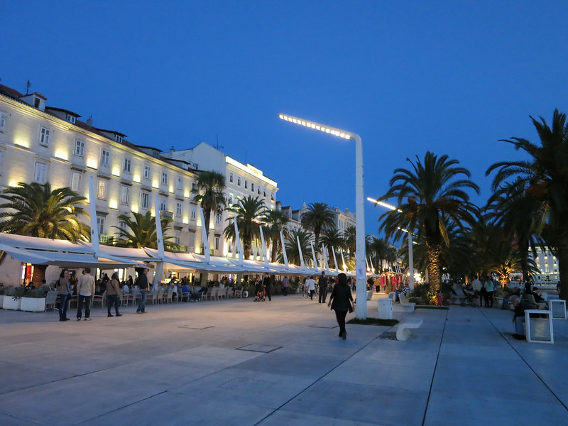Main boardwalk in Split.