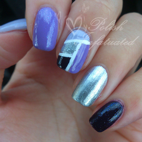 purple ombre nail art