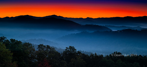 Sunrise at Foothills Parkway Overlook