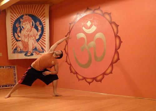 Extended side angle pose - Utthita Parsvakonasana at Yoga Hawaii