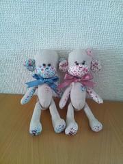 K&K Sock Monkey Style Fabric Monkeys