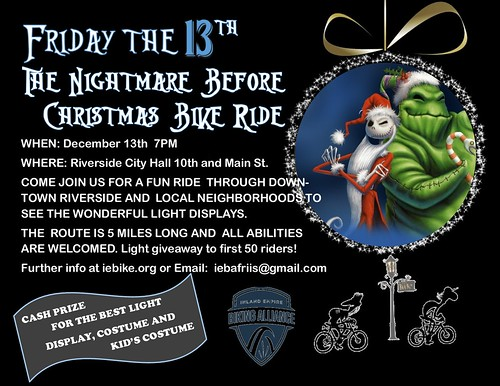 Nightmare Before Christmas Bike Ride by cyclotourist