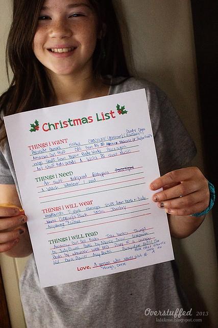 Chloe Christmas List