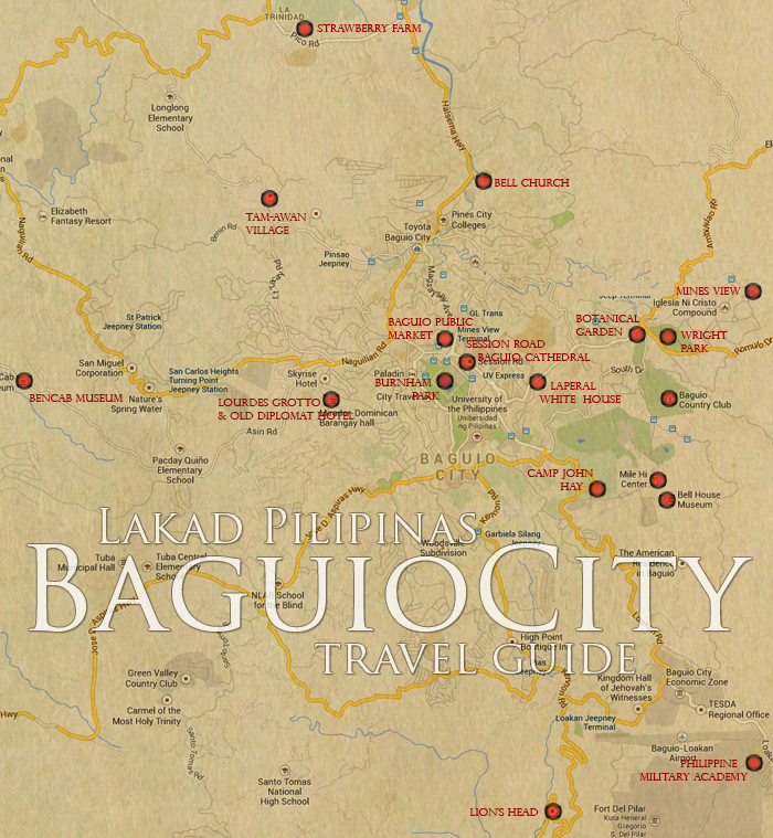 Baguio City Tourist Spot Map