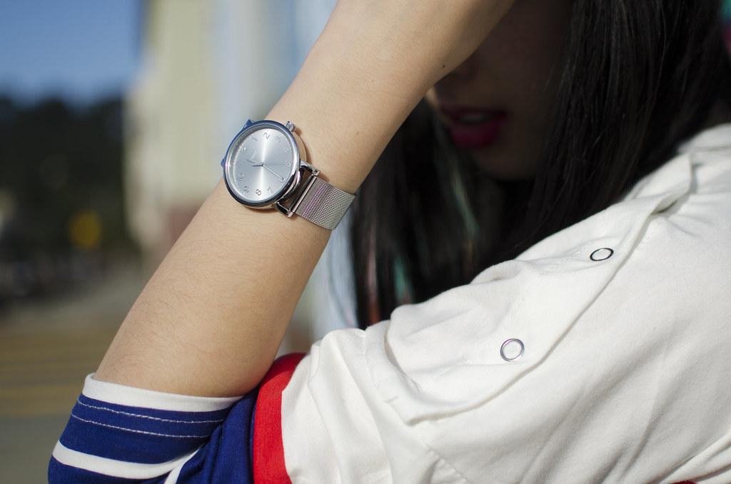 timex classic round watch, silver watch, silver jewelry, readytwowear