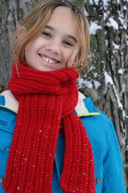 lily scarf model #2
