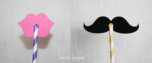 Bigotes y labios para cañitas Merbo Events