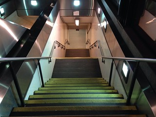 Boston - Steps into the Copley Green Line Subway.