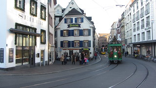 Basel BVB tram... note the driver.