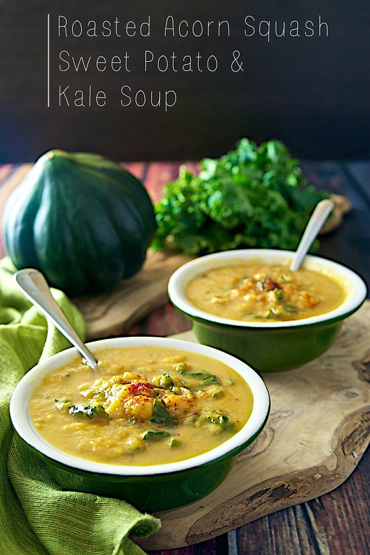 acorn squash soup with kale creamy acorn squash soup with acorn squash ...