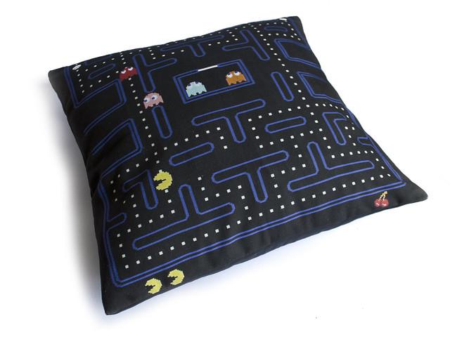 Finished Pac-Man cushion