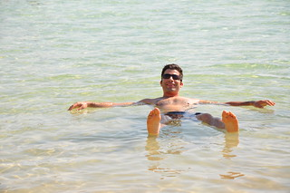 Effortlessly floating on the Dead Sea