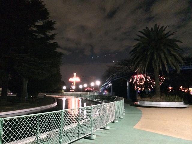 豊島園の夜釣り