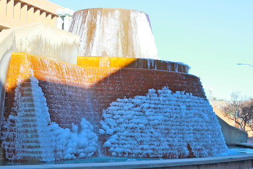 Frozen Fountains on Campus