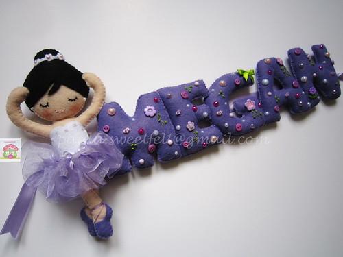 ♥♥♥ Bailarina e lilás para a Megan... by sweetfelt \ ideias em feltro