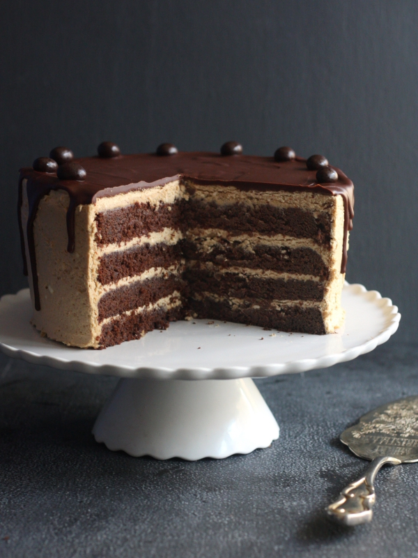 Choc And Coffee Cake Layered