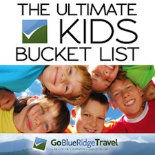 GoBRT's Kids Bucket List for the Shenandoah Valley VA WV