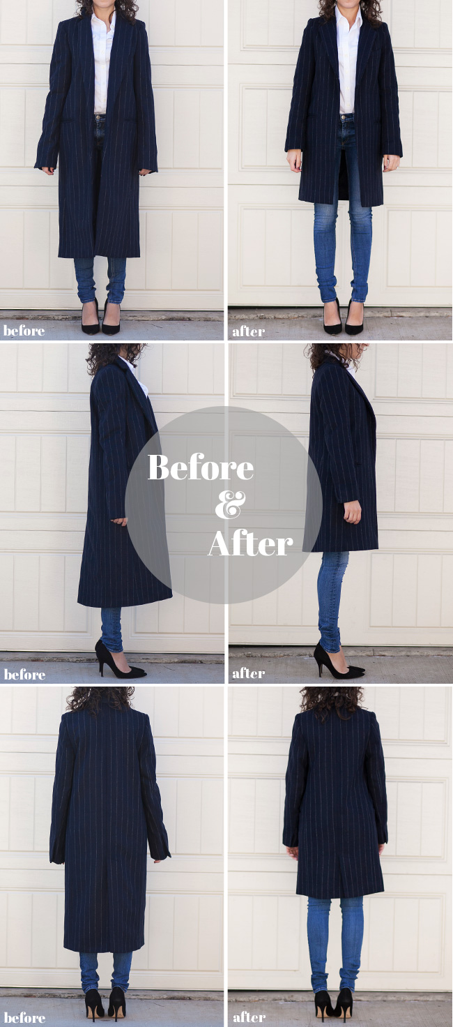 Adventures in Alterations – Zara Pinstripe Coat