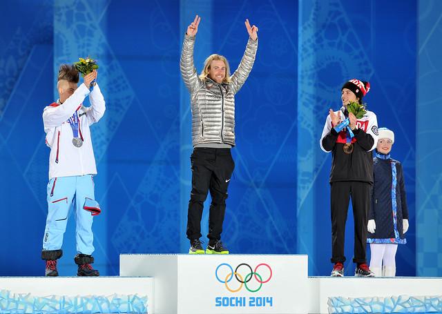 Men's slopestyle Medal Ceremony
