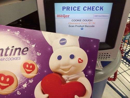 pillsbury valentine cookies are ringing up at 134package over at meijer if you still have the 11 pillsbury cookie dough coupons from the 1215 or 128