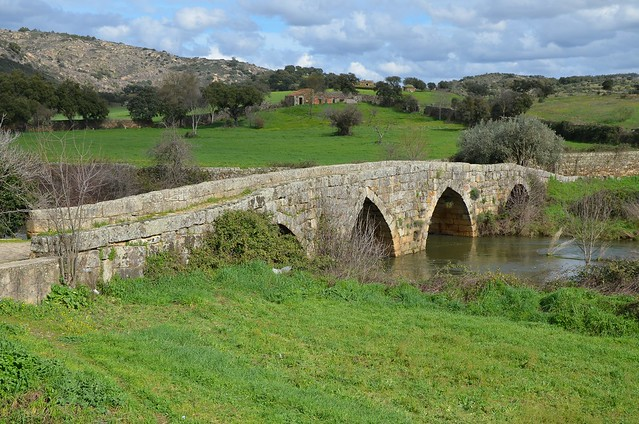 Roman bridge crossing the river Pônsul at Egitania, constructed in 5 or 6 AD along road from Emerita to Egitania, Idanha-a-Velha, Portugal