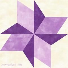 6 inch pretty pinwheel purple