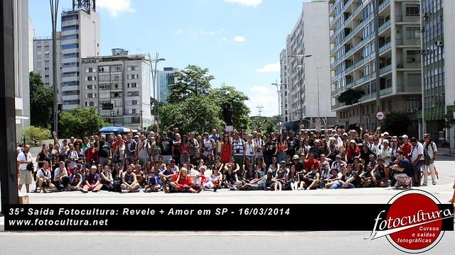 35ª Saída Fotocultura: Revele + Amor em SP 16/03/2014 Foto Oficial