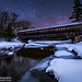 Winter's Night at the Albany Covered Bridge by Adam Woodworth