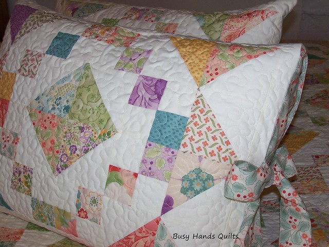 Custom Queen-Sized Jacob's Ladder in Moda Mimi