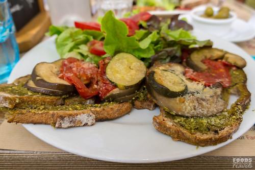 Provence Eggplant sandwich