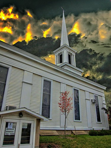 county city sunset sky ny newyork church st architecture clouds greek village state district main dramatic first historic steeple east american e historical oldest presbyterian marcellus revival onondaga nrhp onasill
