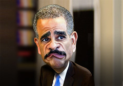 Eric Holder - Caricature