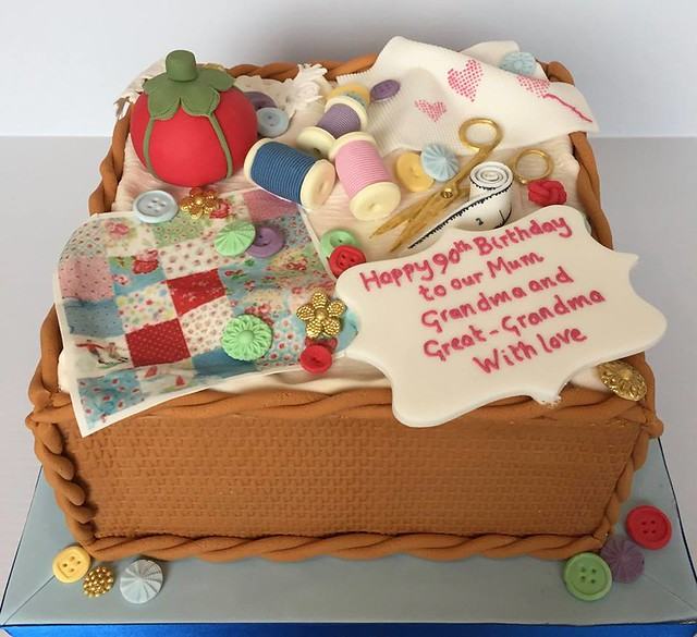 Sewing Themed Cake by Sharon Lord Cakes
