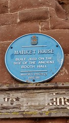 Photo of Market House, Ross-on-Wye and Booth Hall, Ross-on-Wye blue plaque