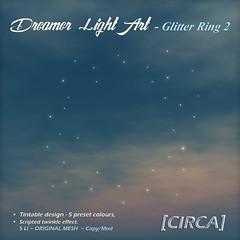 @ SaNaRae for April ~ [CIRCA] - Dreamer Light Art - Glitter Ring 2