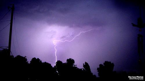Wyoming lightning storm
