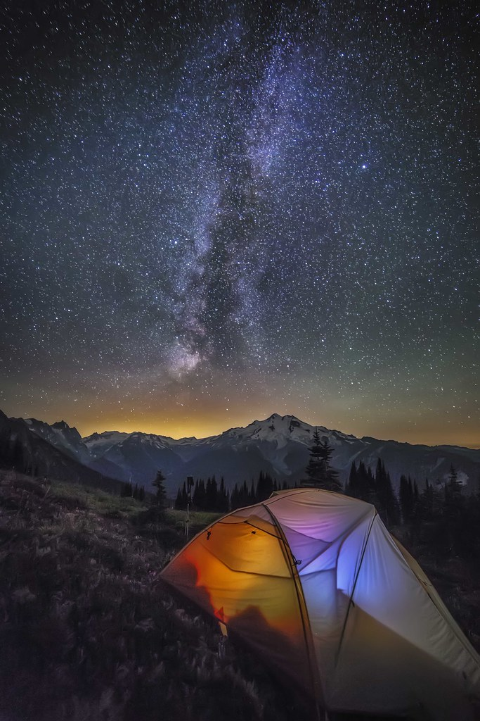 Glacier Peak and the Milky Way, Glacier Peak Wilderness