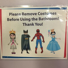 Super hero etiquette is always important.