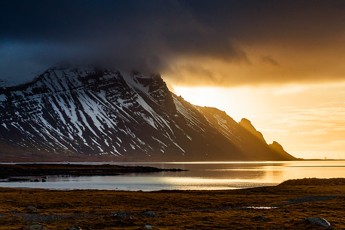 höfn iceland islande islanda islandia is south coast sunrise mountain morning clouds