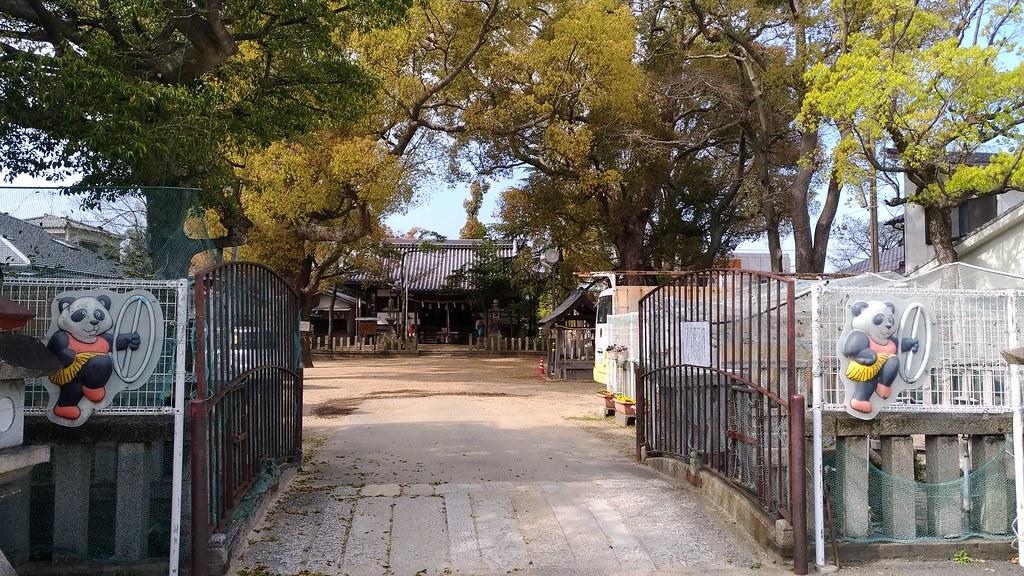 椋橋神社 入口