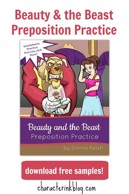 Beauty & the Beast Preposition Practice