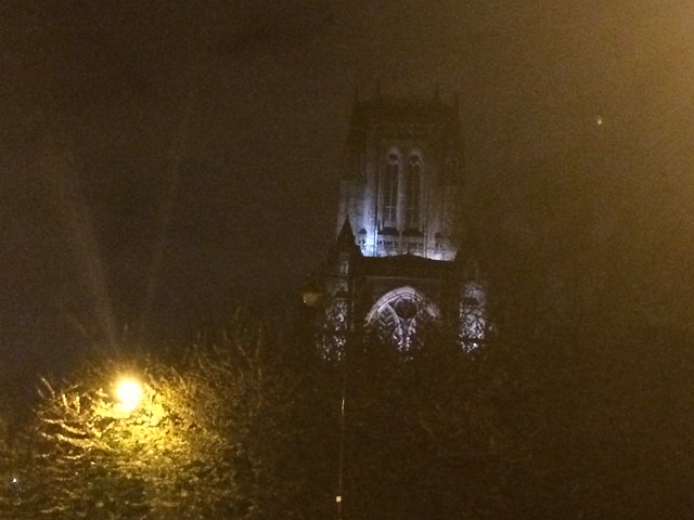 Anglican Cathedral at night. Liverpool