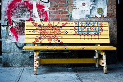 Bench In The East Village, NYC
