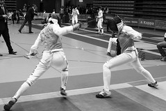 weapon combat sports(1.0), fencing weapon(1.0), individual sports(1.0), contact sport(1.0), white(1.0), sports(1.0), combat sport(1.0), monochrome photography(1.0), ã‰pã©e(1.0), fencing(1.0), foil(1.0), monochrome(1.0), black-and-white(1.0), black(1.0),