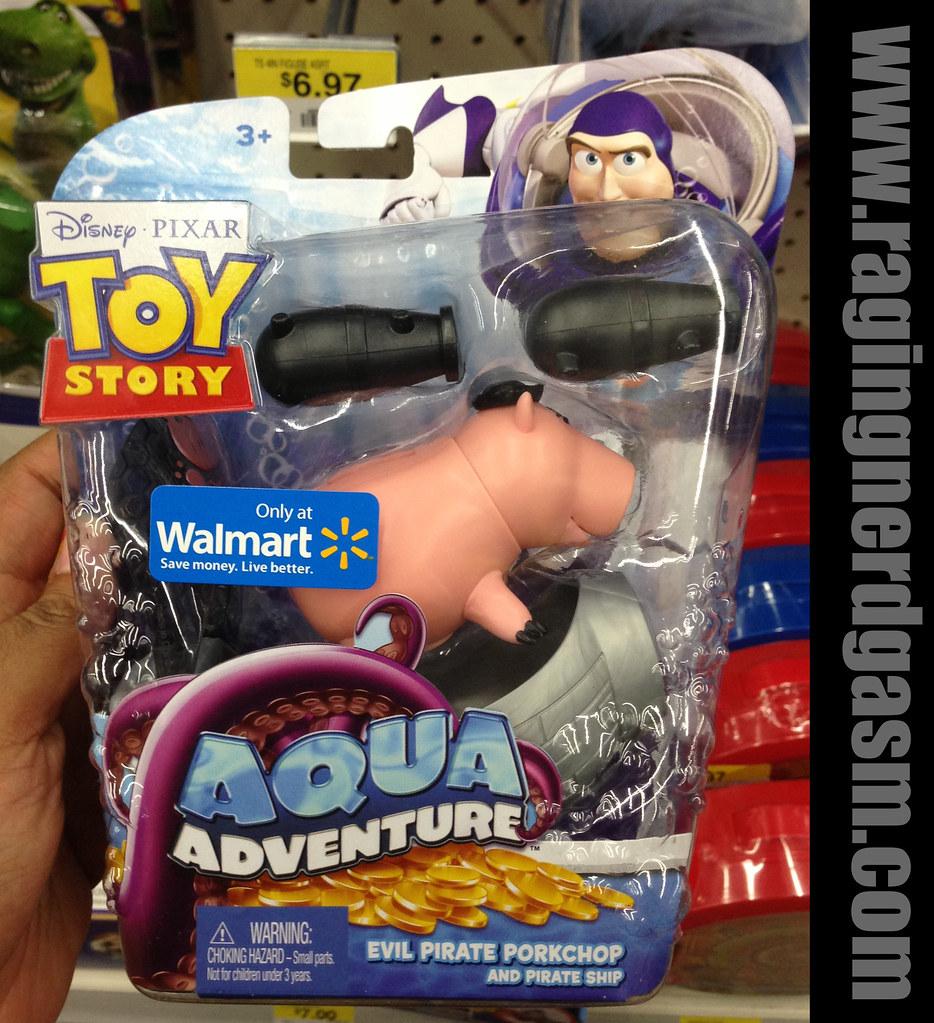 Disney's Pixar Toy Story Walmar Exclusive Aqua Adventure Evil Pirate Porkchop and Pirate Ship