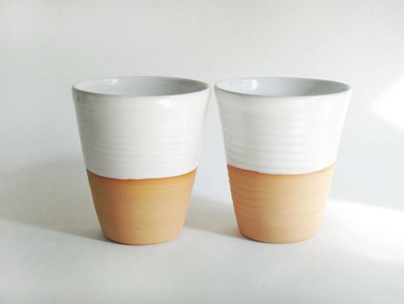 Handleless mugs