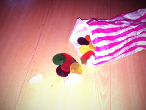 Knocked my bag of sweets over